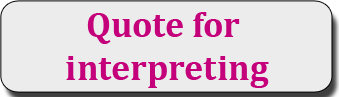 Quote for interpreting
